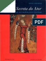 BARBA, Eugenio Et Al - A Arte Secreta Do Ator