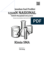 Kunci Jawaban Soal Prediksi UN Kimia SMA 2013