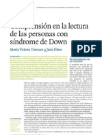 Comprension en La Lectura de Las Personas Con Sd. Down