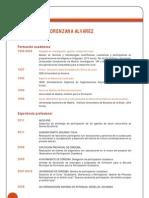 Curriculum Vitae Concha Lorenzana