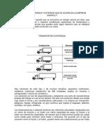 Transportes Internos y Externos Que Se Acupan en La Empresa Chantilly