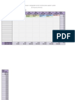 Work Schedule Template With Shifts and Labor Costs