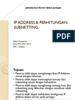 Ip Address & Perhitungan Subnetting