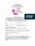 Clay County Hospital 4th Annual Move for the Cure 5K walk/run Entry Form