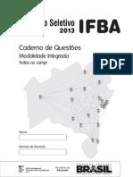 IFBA - Integrada 2013 [com gabarito].pdf