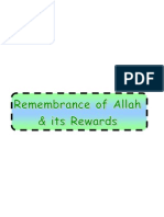 Monotheism Part 10-3- Remembrance of Allah and Its Rewards