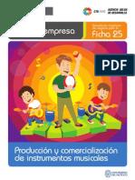Ficha Extendida 25 Produccion y Comercializacion de Instrumentos Musicales