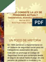ELEMENTOS BÁSICOS Y PROBLEMAS Ley de pensiones 065