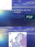 A EUROPA OCIDENTAL DO PÓS GUERRA