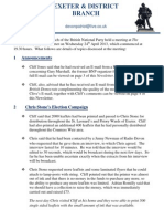 Exeter and District BNP Newsletter (April 2013)