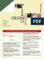 Programma del Giugno Pisano 2009