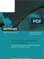 Accenture Performance Analytics Solution for Banking