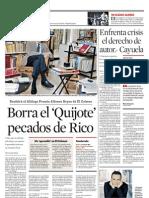 """Entrevista en """"Reforma"""" (15/8/2013)"""