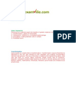 Examville.com - Bacterial Genetics, Gene Transfer
