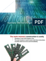 Auxillary Memory Organization by Sanjiv Nambiar