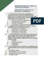 Examen Para Postulante Al Cargo de Docente de Basica