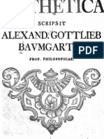 A. G. Baumgarten, Aesthetica (Praefatio)