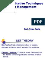 Quantitative Techniques in Management - Set Theory