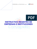 Instructivo de Registro de Empresa