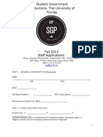 SGP Fall 2013 Staff Application