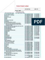 Copier Machines Lamps Catalog