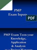 PMP Exam Inputs