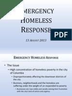 Columbia SC - Emergency Homeless Response 13 August 2013