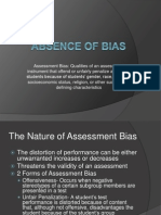 Absence of Bias