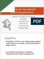 Clasificación de acabado superficial(polimeros)