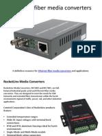 Ethernet Fiber Media Converters