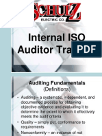 Internal ISO Auditor Training