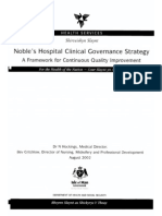 Noble's Hospital Clinical Governance Strategy ( Modul 11 )
