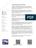 LEA 2013-14 Welcome Letter for LISD Educators.
