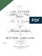 Mateo Carcassi - Op. 20 Aire Suizo Variado