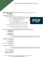CV Europass Model