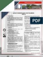 Asfalto Modificado Con Polimeros Tipo III (Manufacturas y Procesos Indust Ltda) Barranca