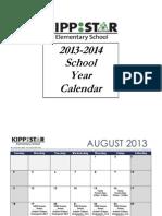 KIPP STAR Elementary - Important Dates 2013-14