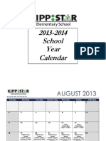 KIPP STAR Elementary - Important Dates 2013-14