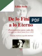 Edith Stein - De Lo Finito a Lo Eterno