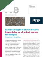Recubrimientos. La electrodeposicion de metales industriales en el actual mundo tecnologico.pdf