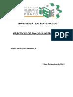 PRACTICAS de análisis instrumentales
