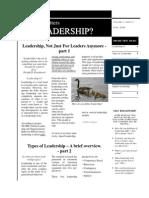 Working Matters - Volume 1, Issue 3 ~ June, 2009