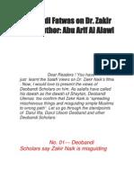 Deobandi Fatwas on Dr Zakir