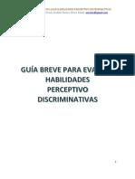 Guía Breve para Evaluar Habilidades Perceptivo Discriminativas