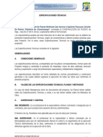 3.1 Especificaciones Tecnicas Puente Miricharo