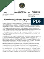 Pr - Weatherization Announcement