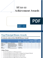 Principal Achievement Award Winners