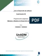 DMMS Unidad 2. Modelos Para El Desarrollo de Software