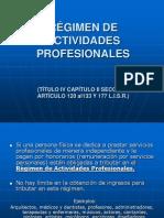 1 RÉGIMEN DE ACTIVIDADES PROFESIONALES (Honorarios)