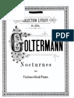 5 Nocturnos Para Cello y Piano - George Golterman